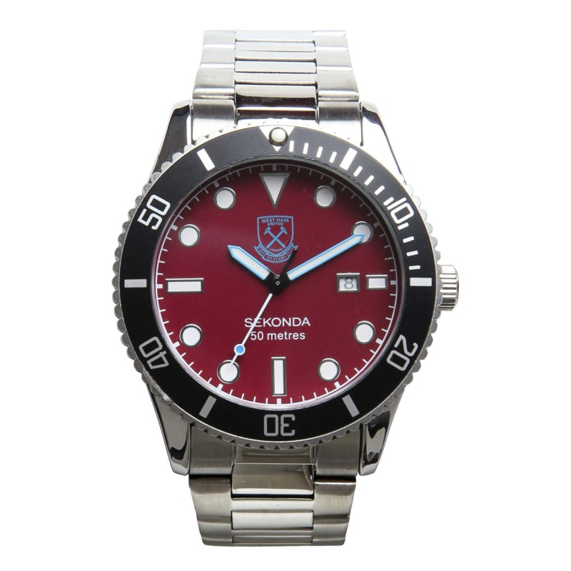 WEST HAM 125 - CLARET FACE BRACELET WATCH