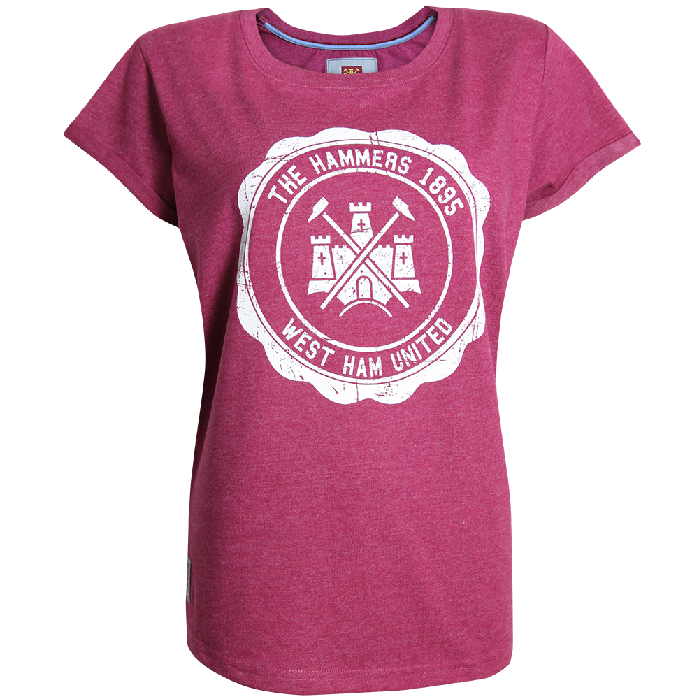 LADIES RASPBERRY MARL T-SHIRT