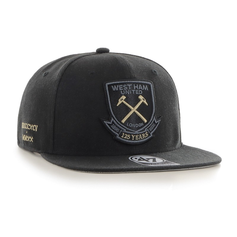 WEST HAM 125-BLACK CAPTAIN CAP