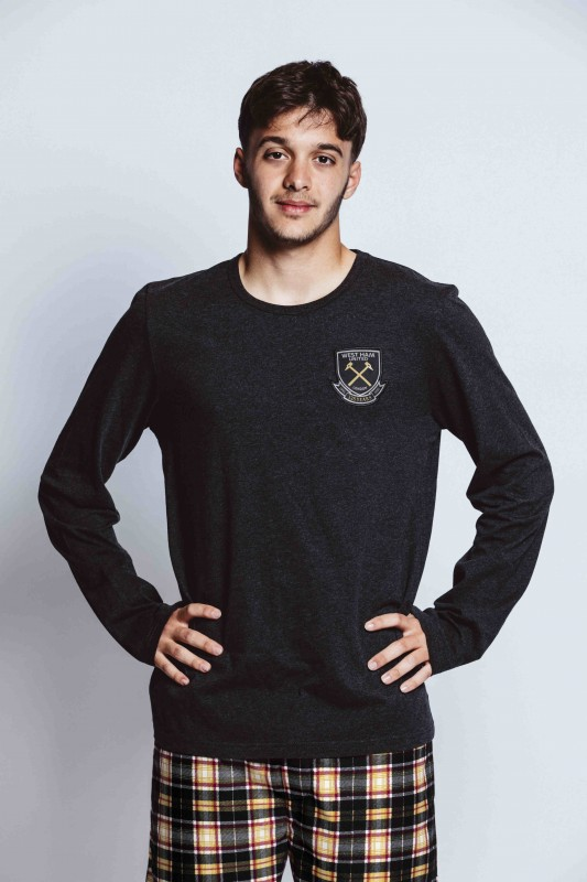 WEST HAM 125-MENS LONG SLEEVE LOUNGE TOP