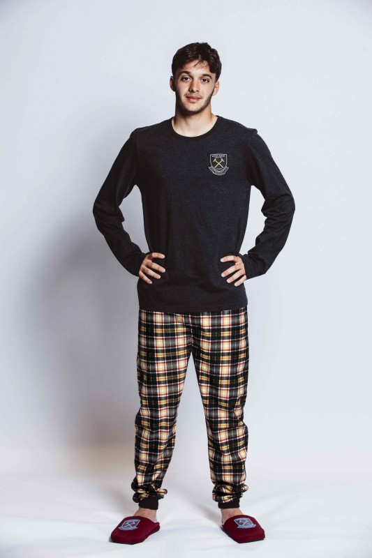 WEST HAM 125-MENS CHECKED LOUNGE PANTS