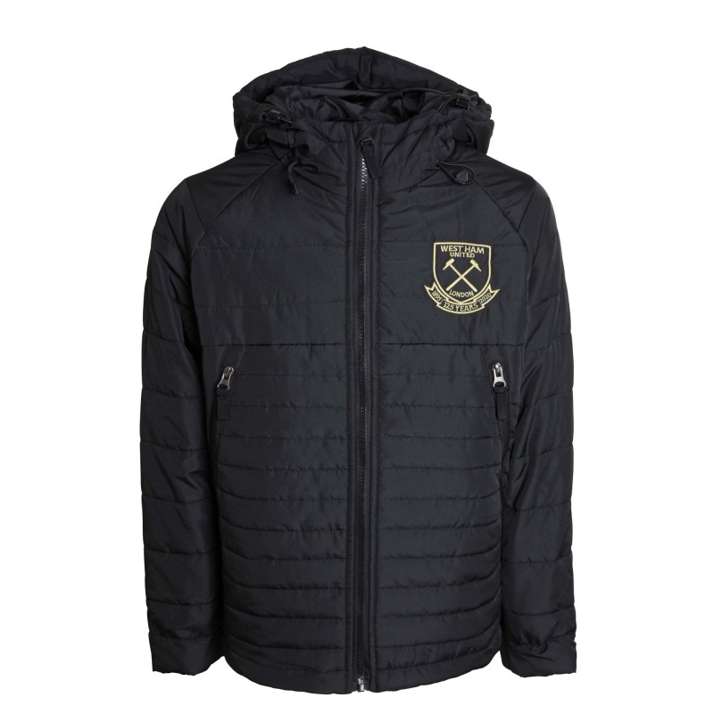 WEST HAM 125-JUNIOR BLACK PADDED JACKET