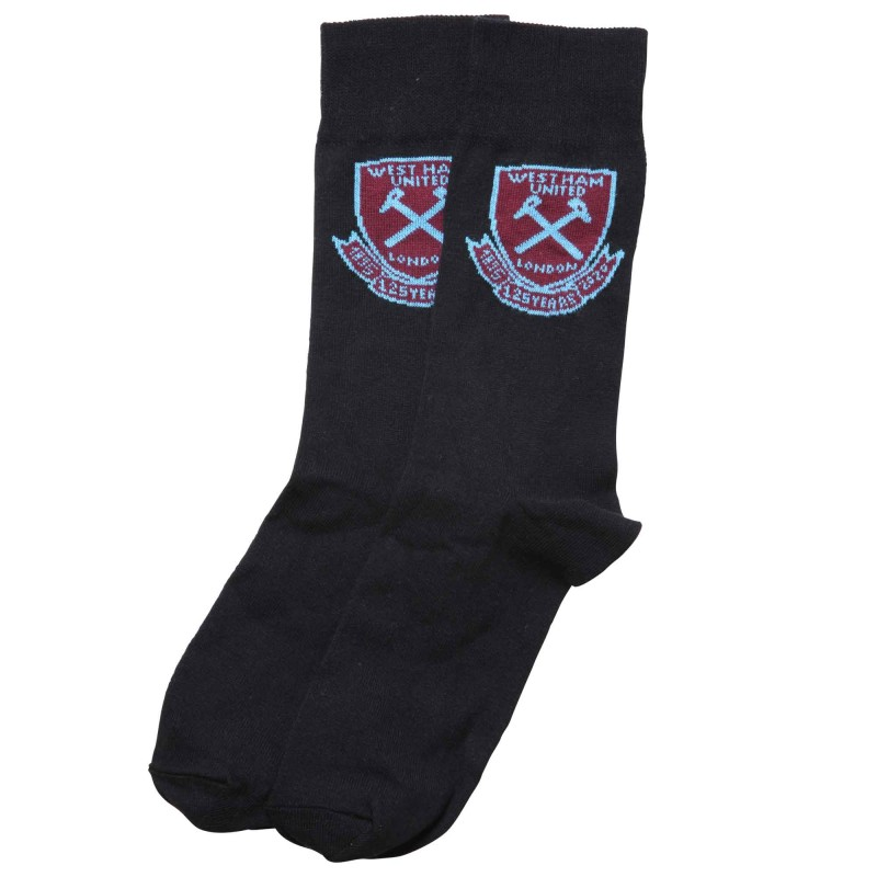 WEST HAM 125-JUNIOR BLACK CREST SOCKS