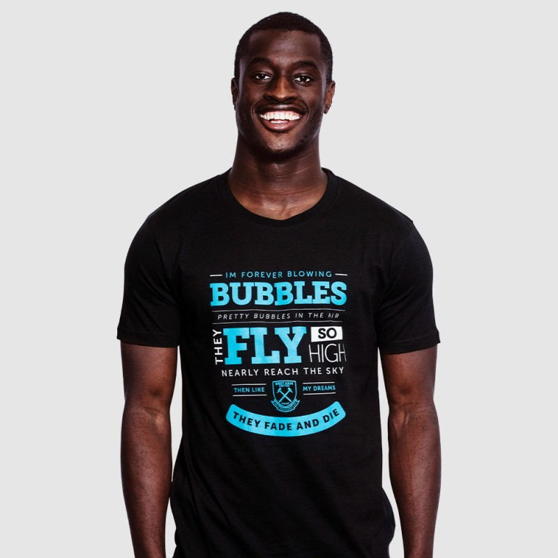 2425 - BLACK 125 BUBBLES LYRICS T-SHIRT
