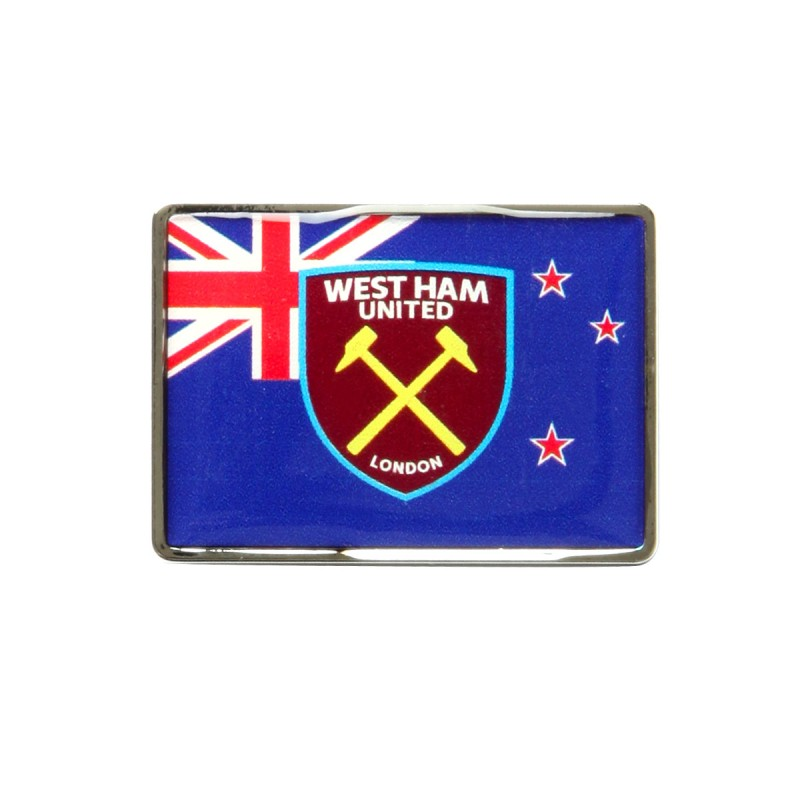 NEW ZEALAND FLAG/CREST PIN BADGE