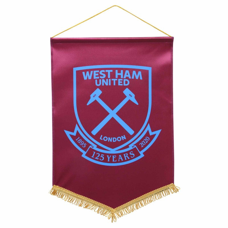 WEST HAM 125-LARGE CLARET PENNANT