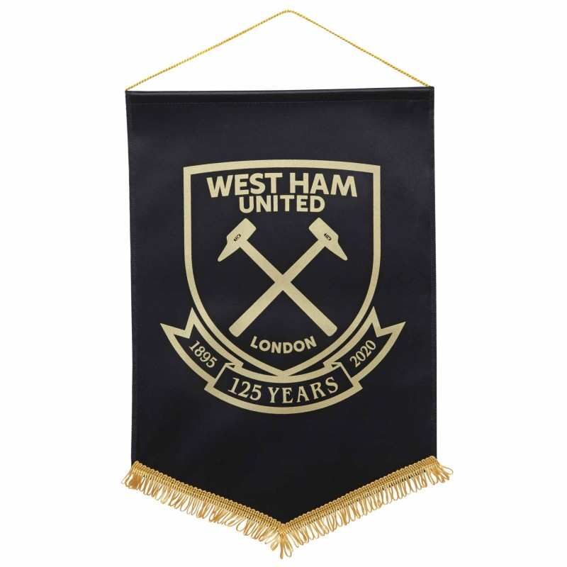 WEST HAM 125-LARGE BLACK PENNANT