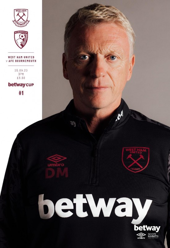 BETWAY CUP MATCHDAY PROGRAMME  - AFC BOURNEMOUTH