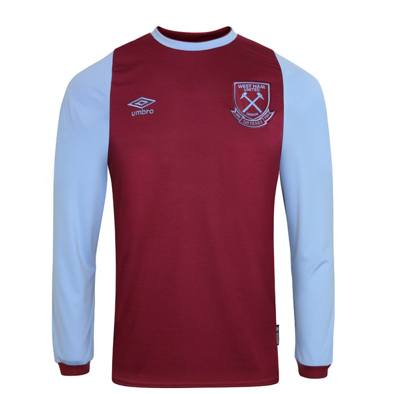 WEST HAM 20/21 UNSPONSORED ADULT L/S HOME SHIRT